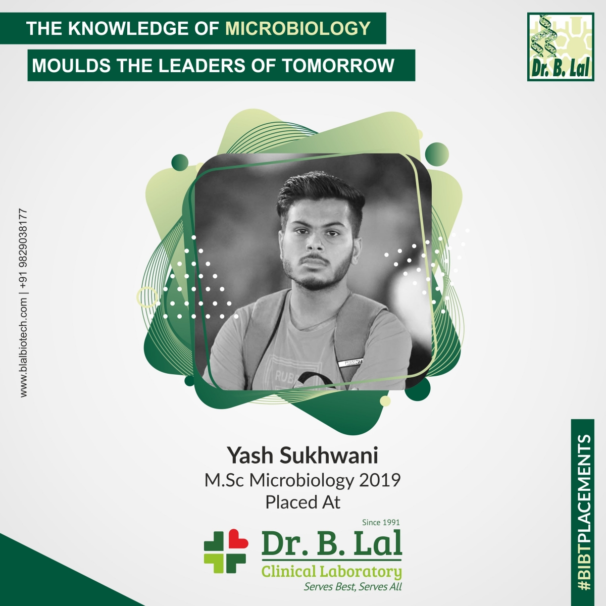Yash Sukhwani, M.Sc. Microbiology 2019 | #BIBTPlacements