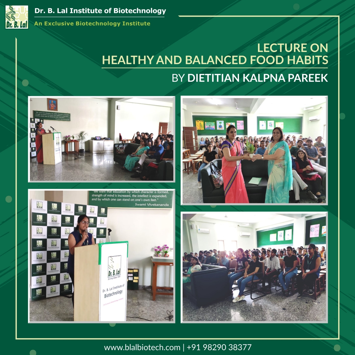 """Lecture on """"Healthy and Balanced Food Habits"""""""
