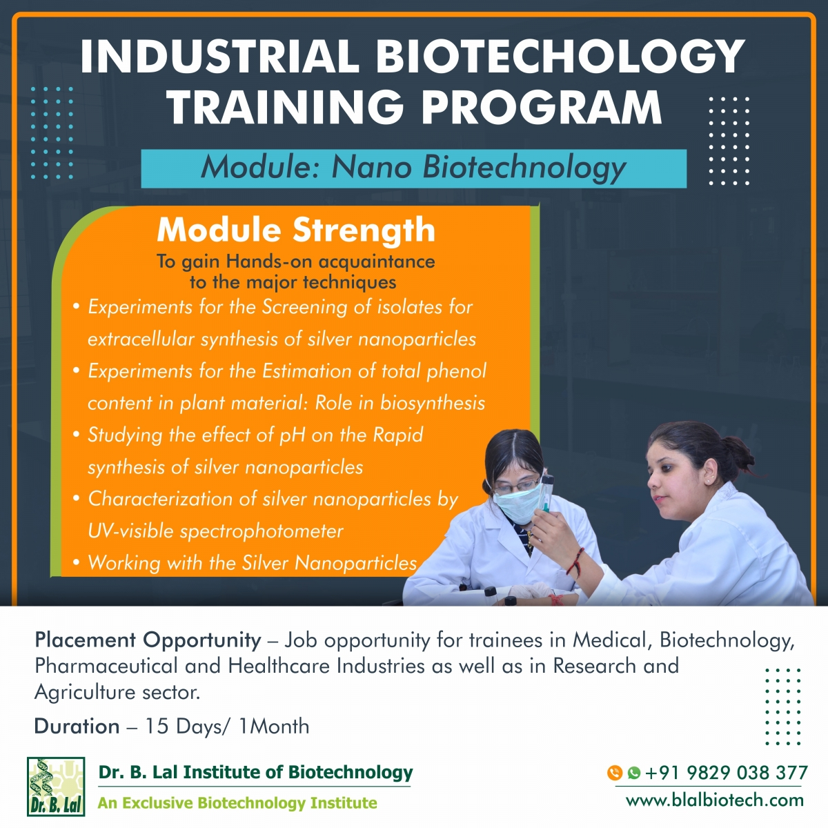 Industrial Biotechnology Training Program | Module: Nano  Biotechnology