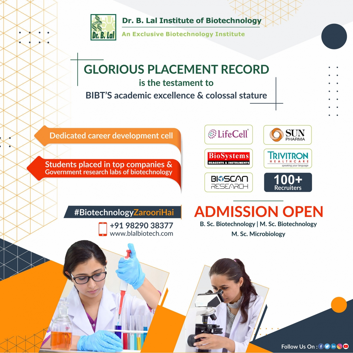 Placements | Dr. B. Lal Institute of Biotechnology