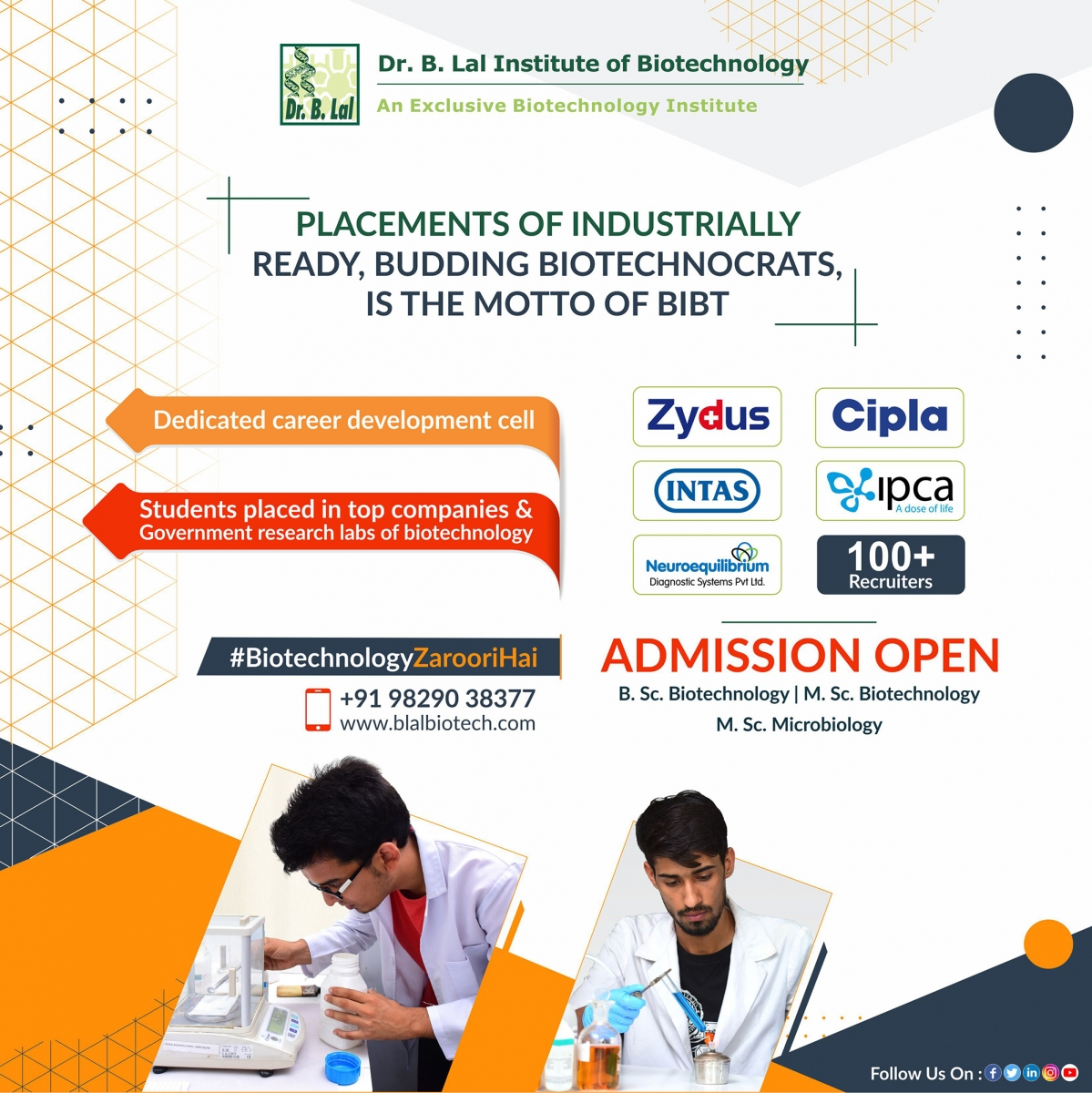 Placements   Dr. B. Lal Institute of Biotechnology