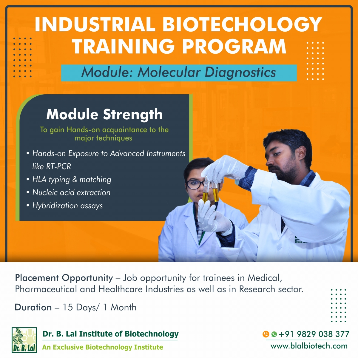 Industrial Biotechnology Training Program | Module: Molecular Diagnostics