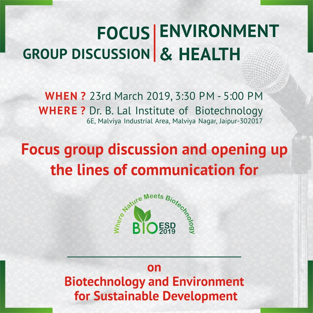 "A Focus Group Discussion on ""Environment and Health"" 