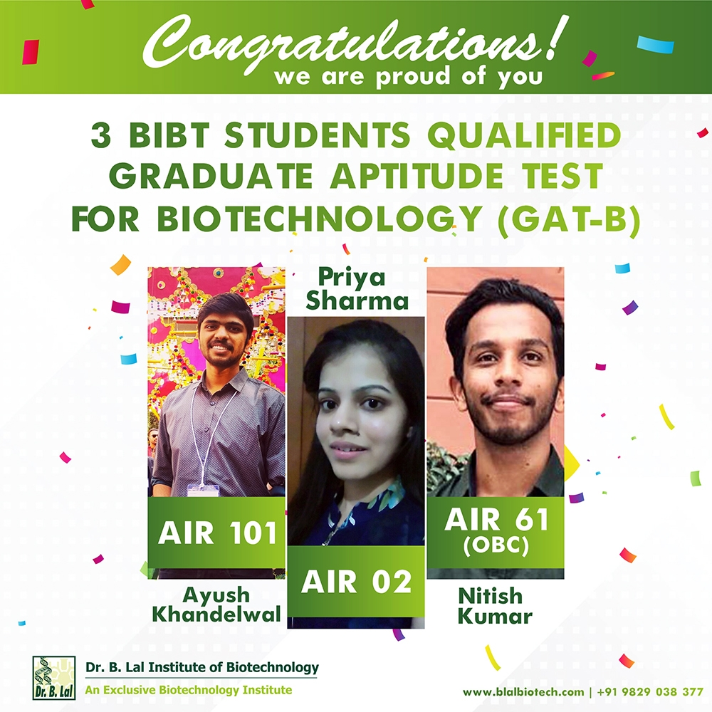 GAT-B Examination Qualified Students