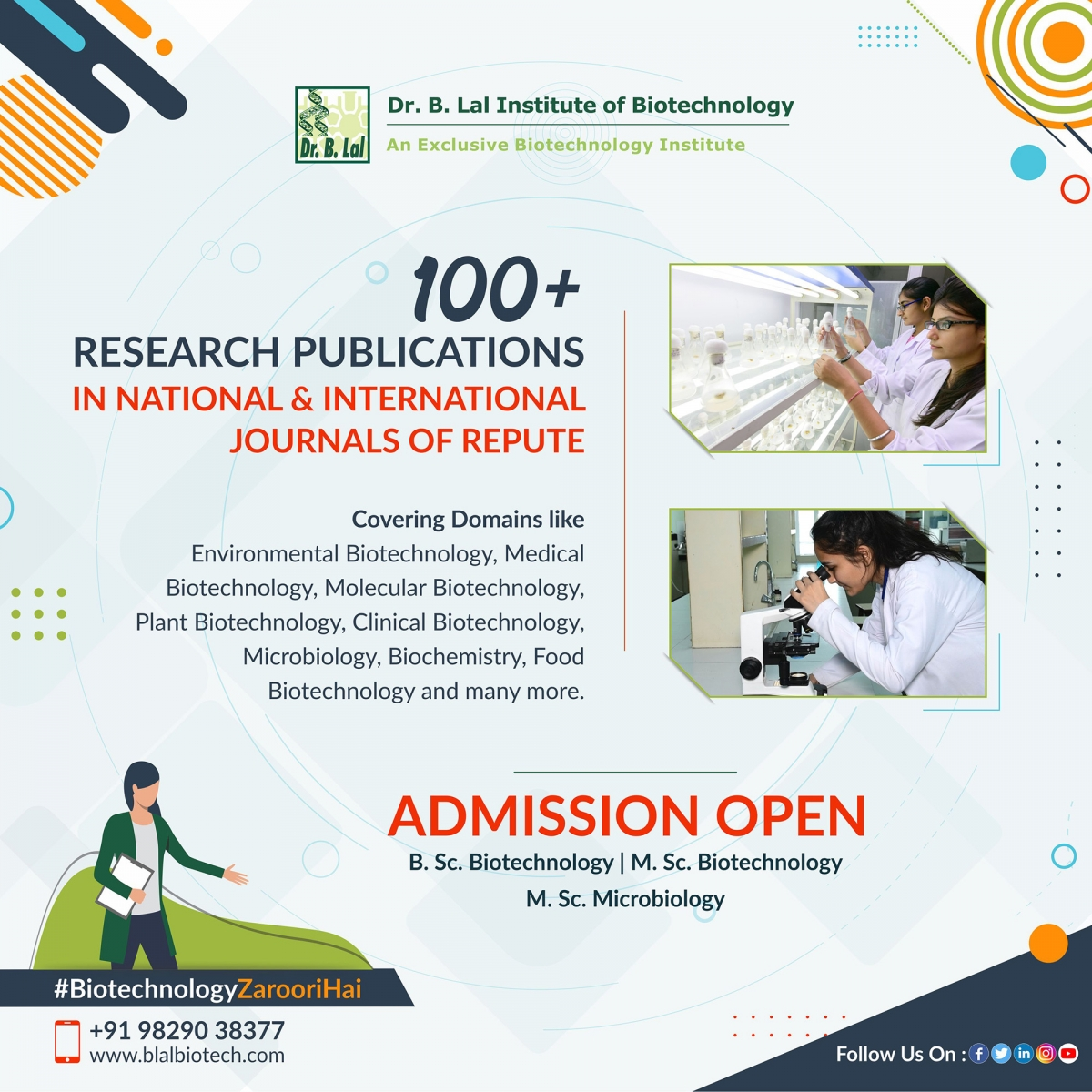 Research Publications | Dr. B. Lal Institute of Biotechnology