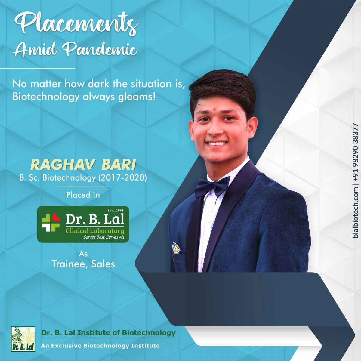 Raghav Bari | Placements Amid Pandemic | Dr. B. Lal Institute of Biotechnology
