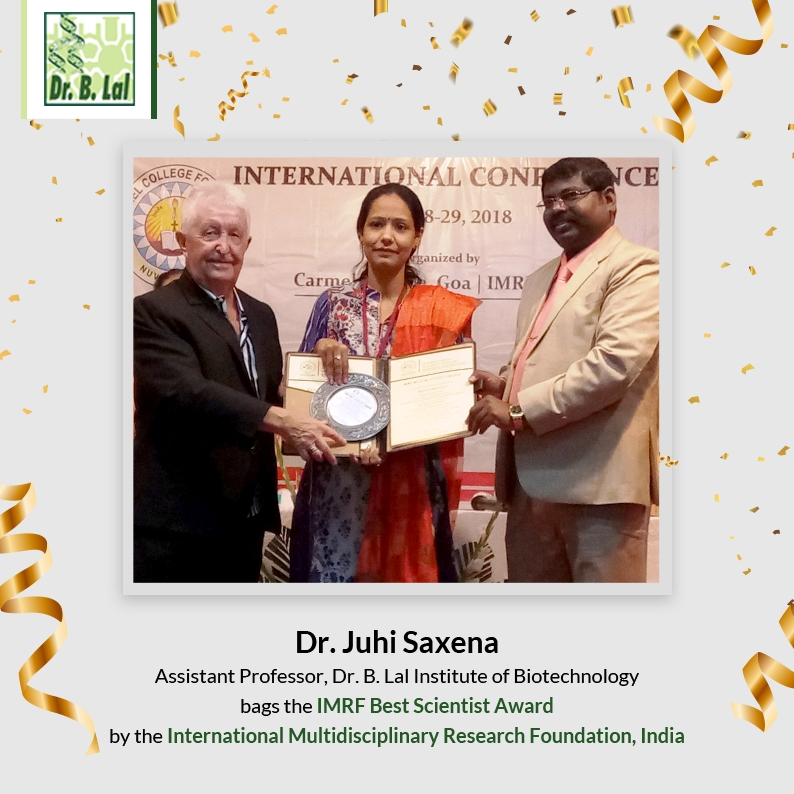 IMRF Best Scientist Award 2019