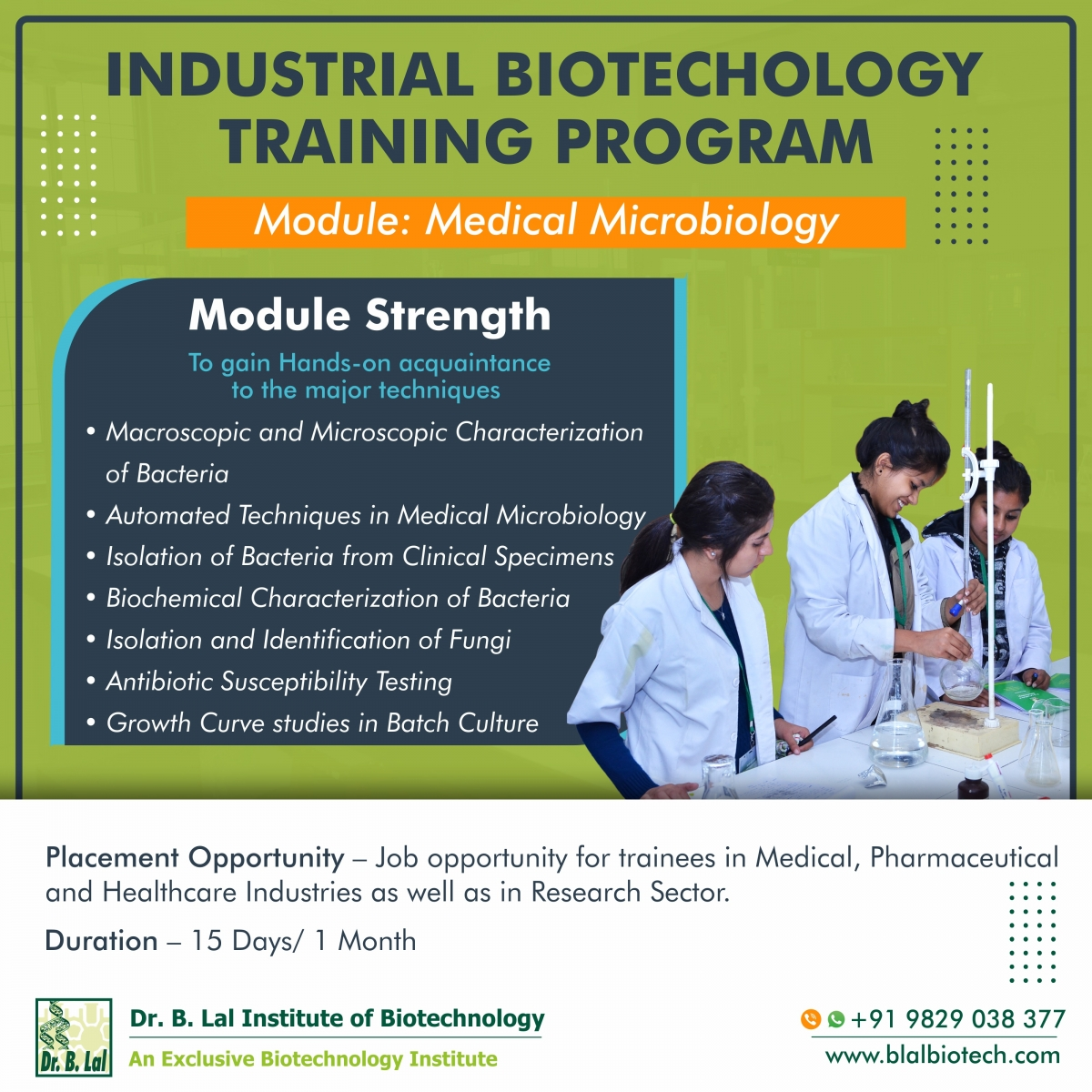 Industrial Biotechnology Training Program | Module: Medical Microbiology