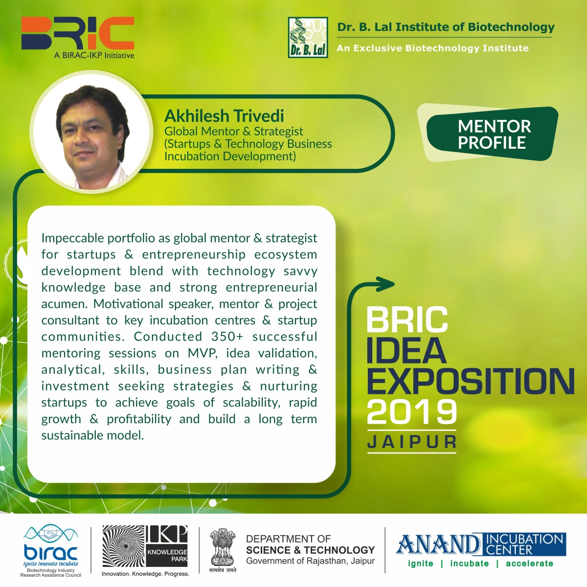 Mentors Profile - BRIC idea Exposition 2019