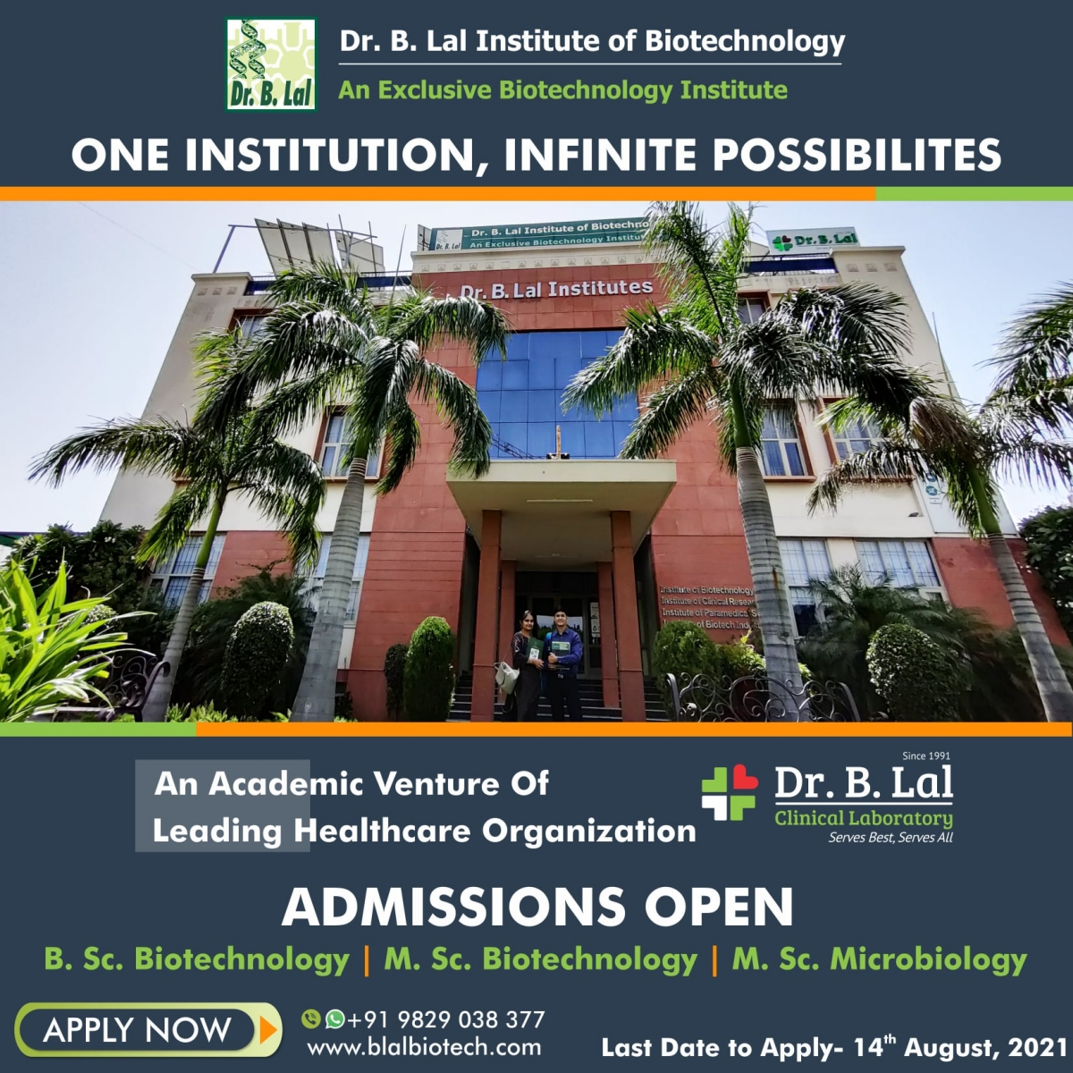 An exclusive Biotechnology Institute in Rajasthan