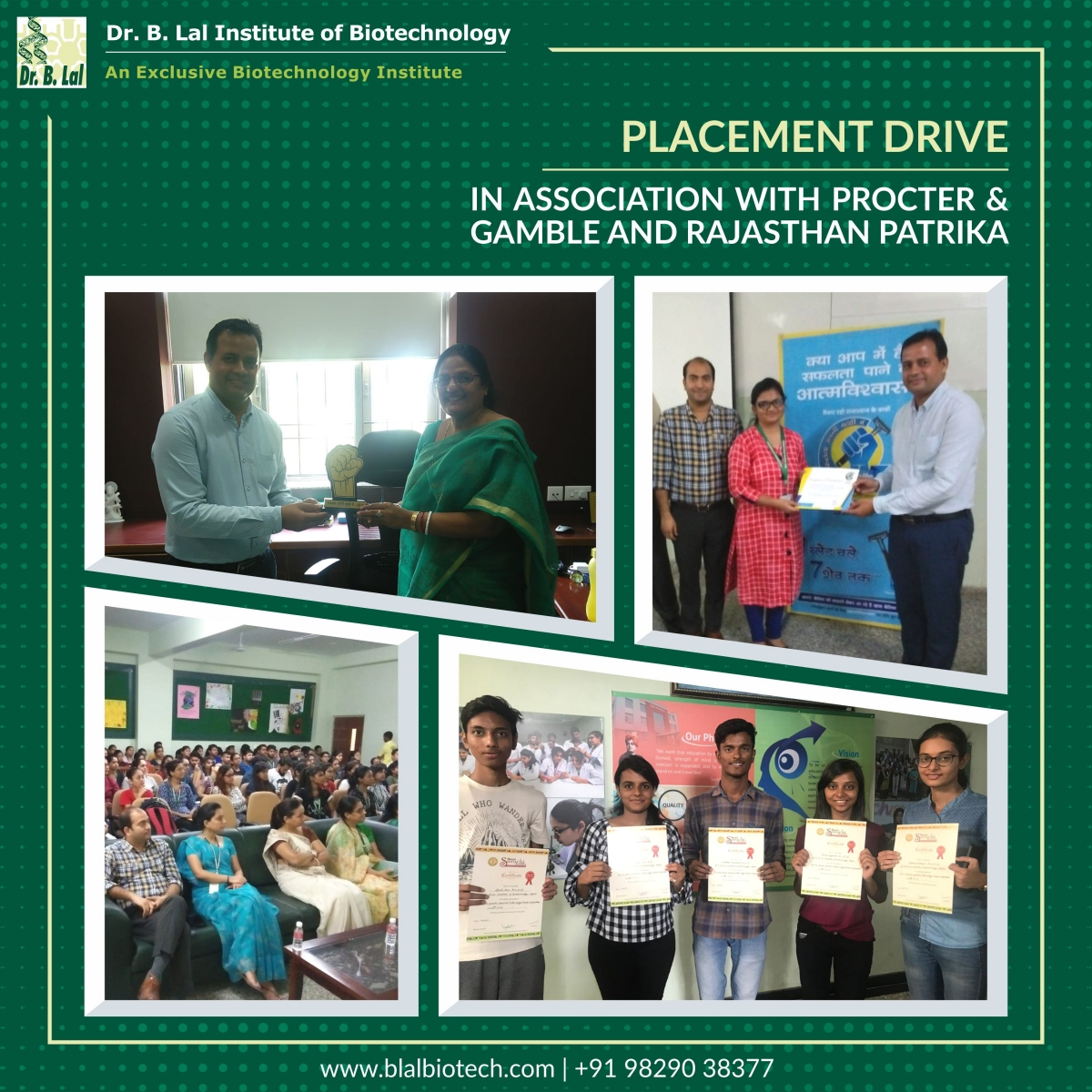 Placement Drive | Procter & Gamble and Rajasthan Patrika